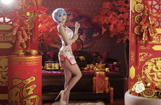 【外人コス画像】綾波レイのチャイナ服コスがクオリティ高いんすよwww